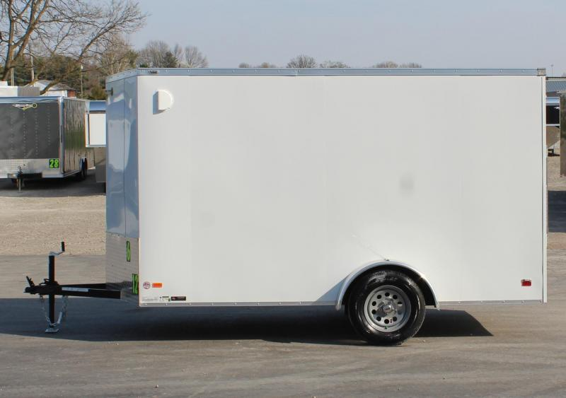 "<b>NOW AVAILABLE</b> 2021 6'x12' Scout Enclosed Cargo Trailer Ramp Door with Plus Pkg. &  Free Options & 6"" Extra High"