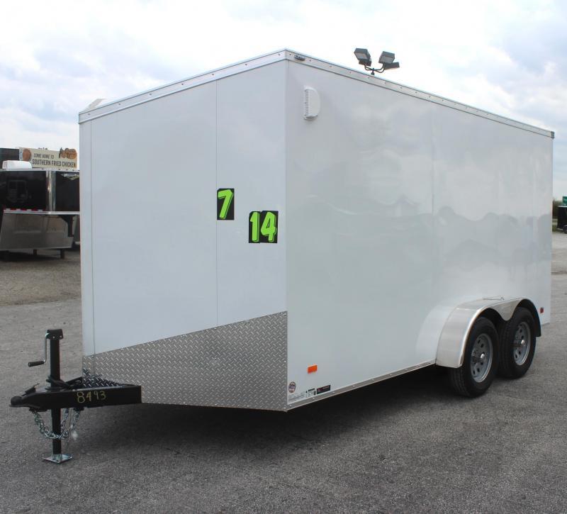 7'x14' Scout Screwless Cargo with Ramp Door FREE OPTIONS