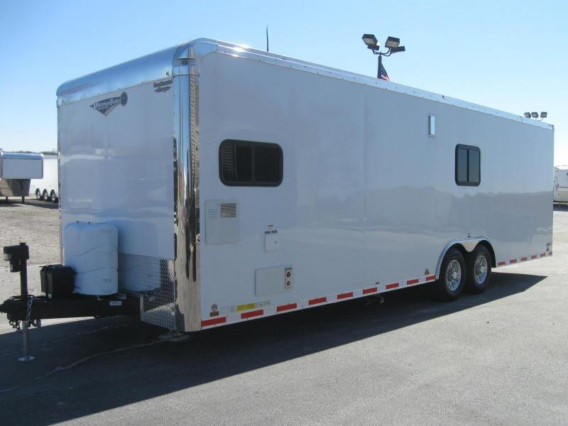 <b>ORDERS ONLY</b> 28' Millennium Auto Master Toy Hauler Red Cabinets