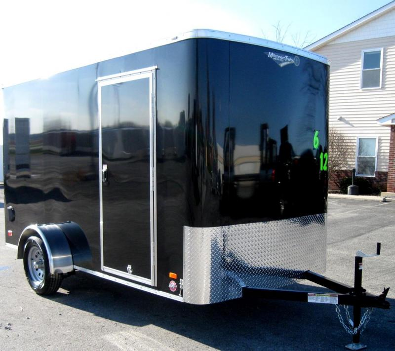 6'x12' Scout Black Cargo Trailer w/ Plus Package/6 Extra High  & Free Options