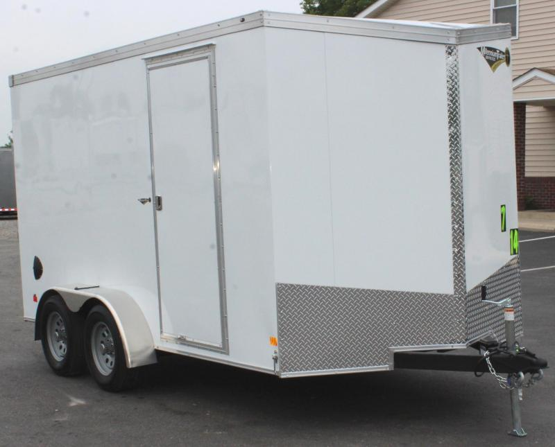"<b>In Stock & Ready</b> 2021 7'x14' V-Nose Millennium Transport Cargo w/Ramp Door/ Slant Nose Option / 6"" Extra High"