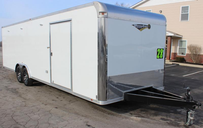 2021 28' Millennium Silver Car / Racing Trailer