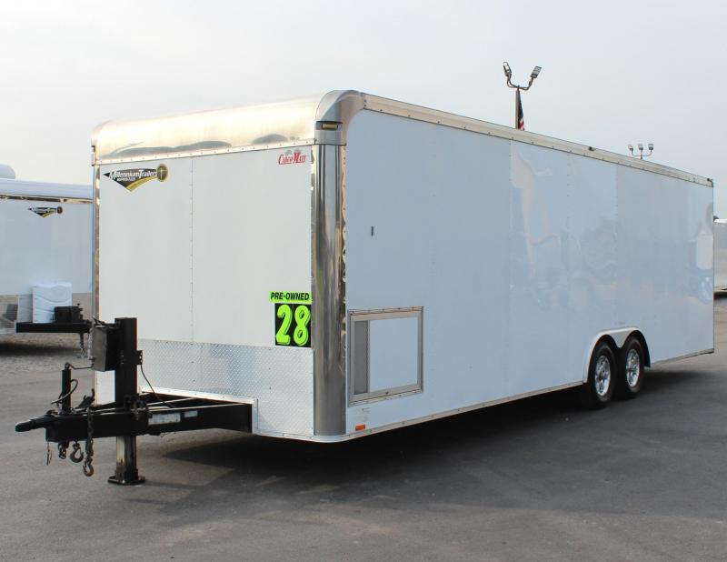 JUST ARRIVED TRADE IN 2011 Cargo Mate Eliminator Car / Racing Trailer