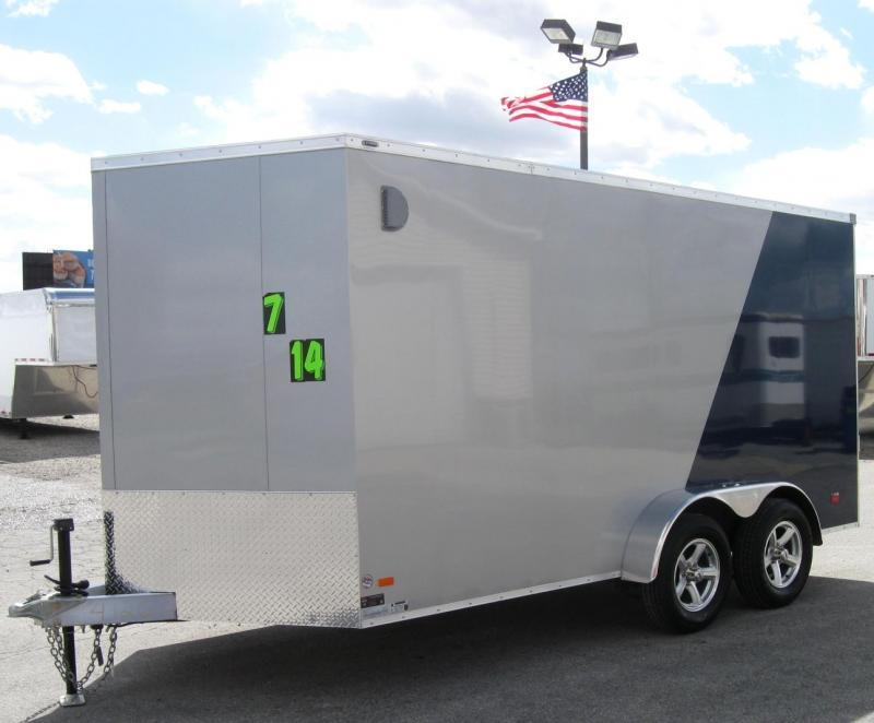 ALL ALUMINUM 7'x14' Scout Cargo with Super Saver Pkg. 6 Extra High Alum Wheels PLUS Free Upgrades