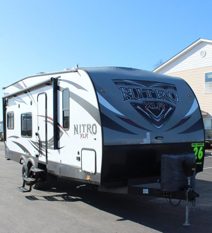 <b>PRE-OWNED TOY HAULER</b> SUPER NICE 2016 NITRO 24' XLT FQSL Forest River