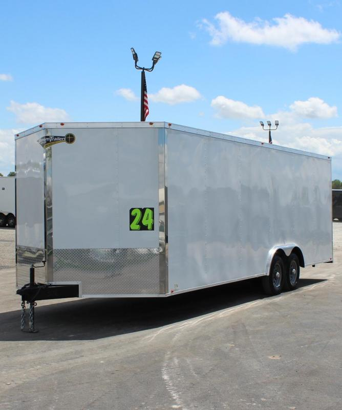 <b>JANUARY CLEARANCE</b>  Budget Minded?  24' Millennium  Chrome Enclosed Trailer