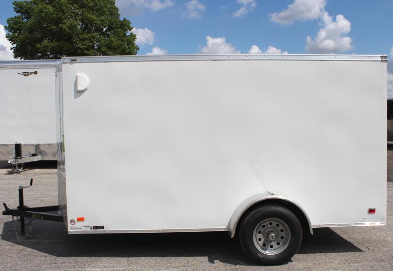 <b>Weekly Special</b>  2019 6'x12' Scout White Enclosed Cargo Trailer Plus Pkg & Free Options