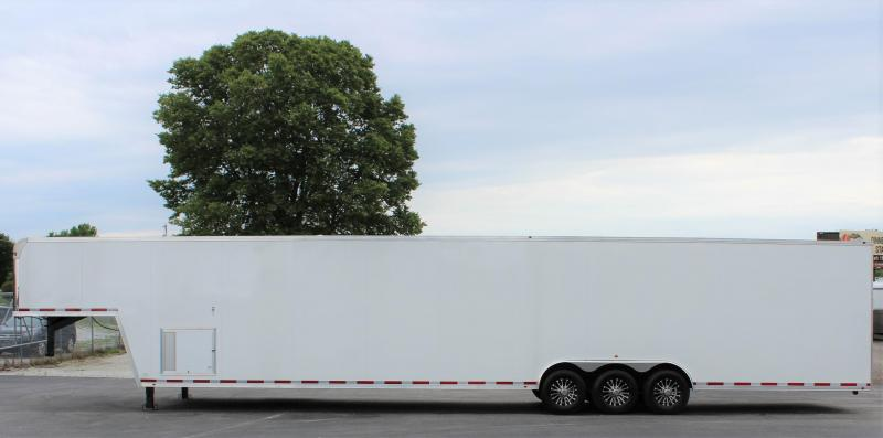 <b>SALE PENDING LOADED & READY GOOSENECK</b> 2021 48' Millennium Trailers Platinum Car Hauler