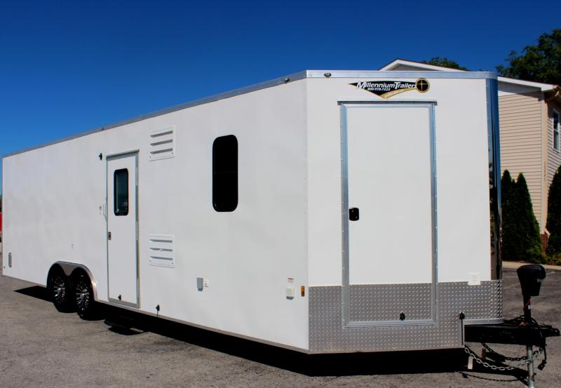 28' Millennium Auto Master Trailer Toy Hauler Tons of Options Added!  Red Cabinets!