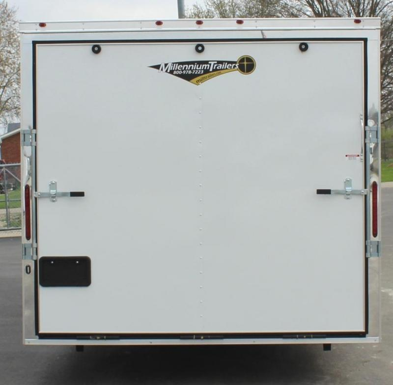 <b>SOLD MAKING MORE</b>  28' Millennium Chrome Enclosed Race Car Trailer FREE RADIAL UPGRADE