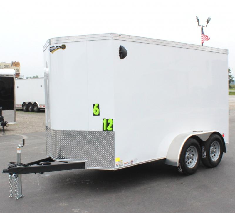 <b>TANDEM AXLES</b> ON ORDER! 2021 6'x12' V-Nose Millennium Transport Enclosed Cargo Trailer