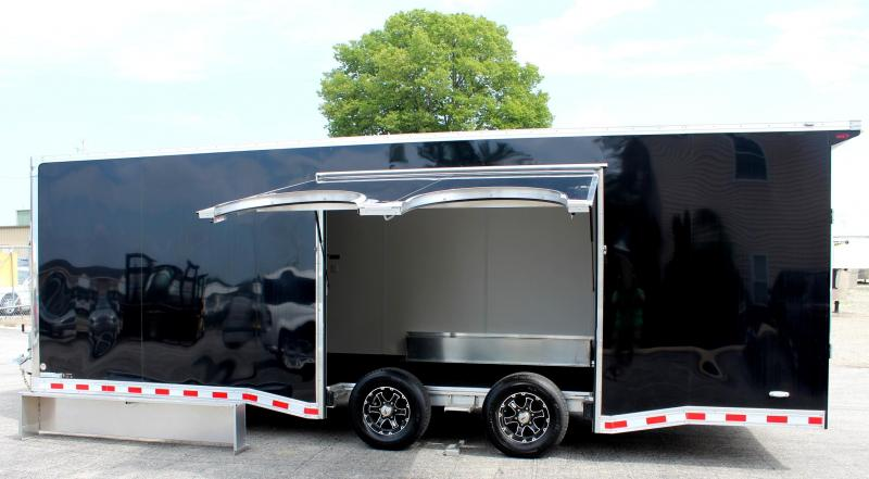 24' Black Millennium Star All Aluminum w/Escape Door w/Removable Wheel Box & Wing