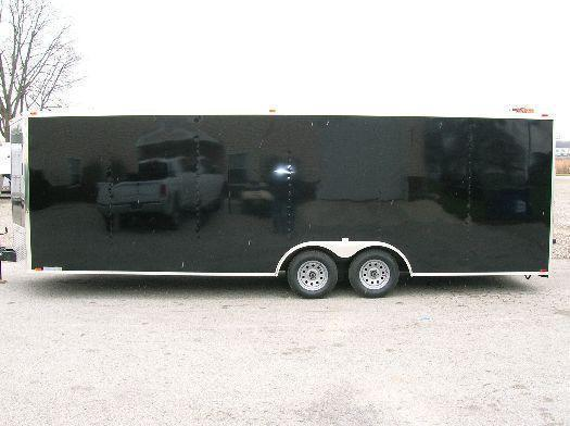 <b>READY 3/9</b> 2021 24' Millennium Chrome Enclosed Trailer Heavy Duty Axles