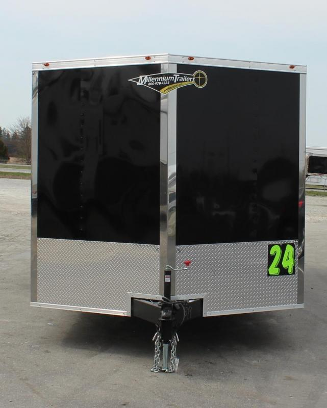 SALE PENDING 2021 24' Millennium Chrome Enclosed Trailer Heavy Duty Axles