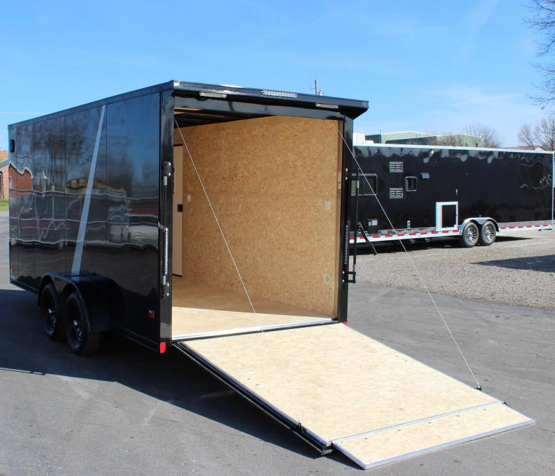 <b>BLACK-OUT PKG & REAR WING</b> 2021 7'x16' Millennium Scout Cargo Trailer w/Ramp Door