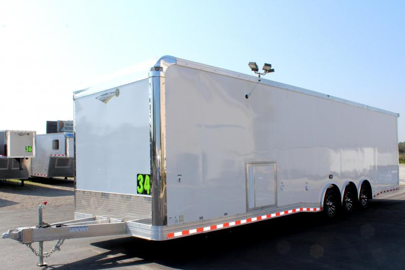 <b>Aluminum Frame w/Full Bathroom</b>  34' Millennium w/Wing & Spread Axles LOADED w/Options