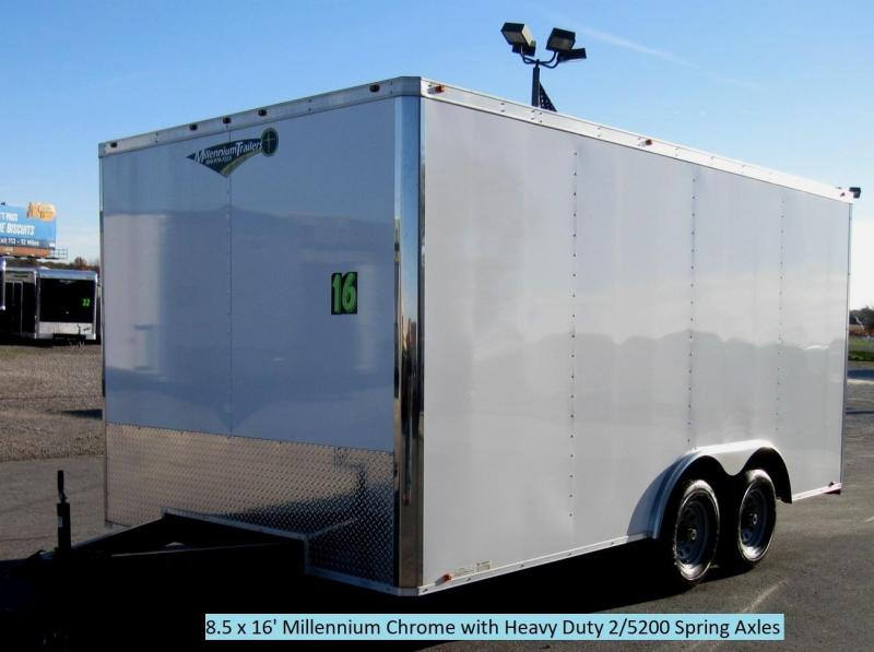 8.5x16 Millennium Chrome Enclosed Trailer