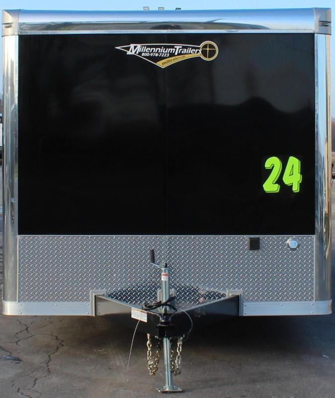 <b>Rear Wing & Spread Axles</b>  2021 24' Millennium Extreme Race Trailer LOADED