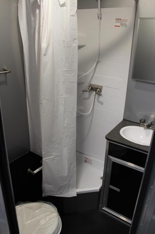 <b>NOW AVAILABLE</b>  Full Bathroom/ Electric Awning & A/C SUPER SHARP 2021 34' Millennium Platinum Race Trailer