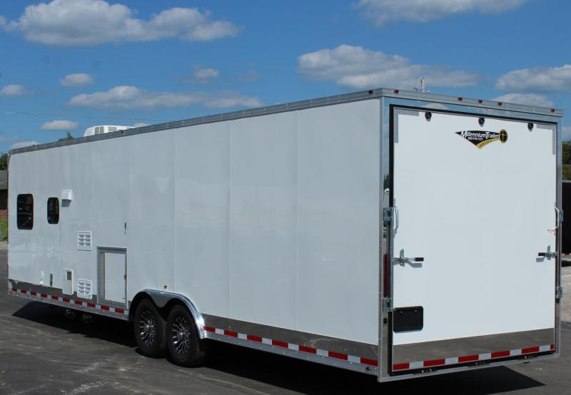 """<b>TAG LIVING QUARTERS</b> AVAILABLE IN 3 COLORS  2021 32' Millennium 12'XE Living Quarters 19'6"""" Cargo Area"""