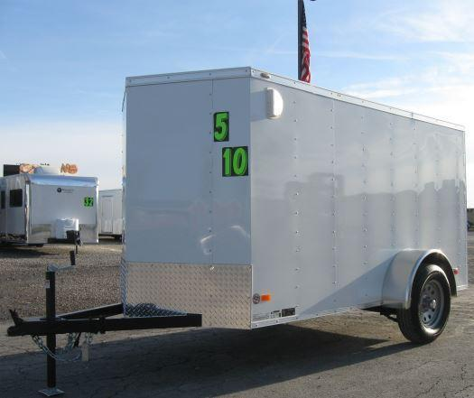 5x10 Scout Enclosed Cargo Trailer w/Ramp Door and FREE UPGRADES