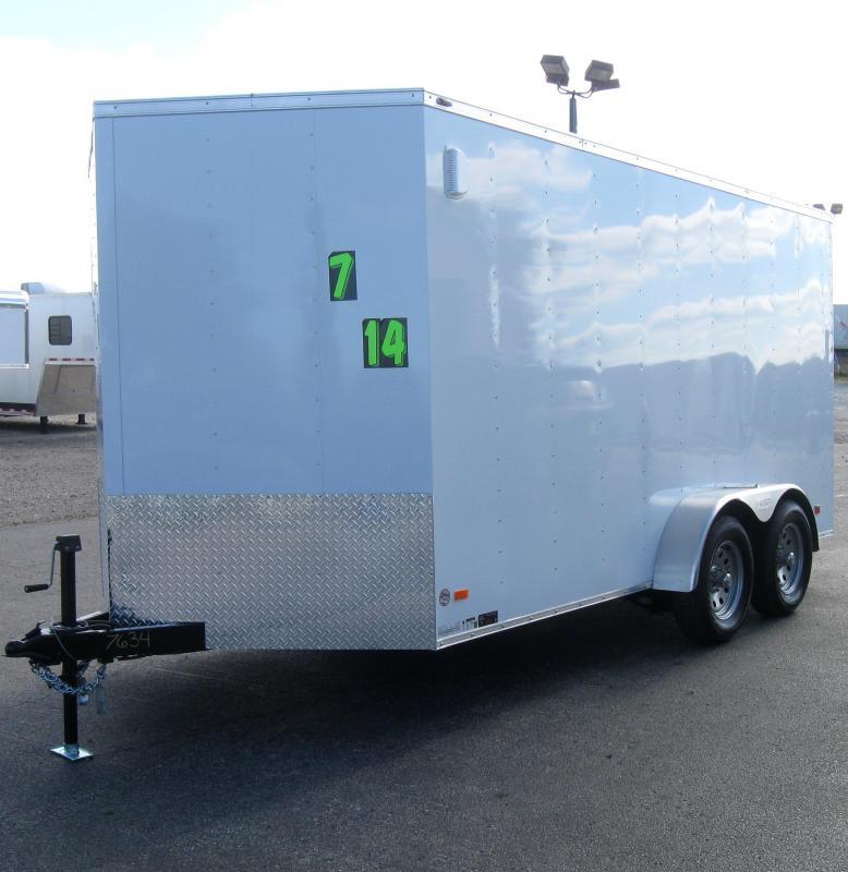 7'x14' Scout Enclosed Cargo Trailer with Ramp Door