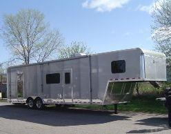 Custom Barbeque Gooseneck Trailer w/Living Quarters