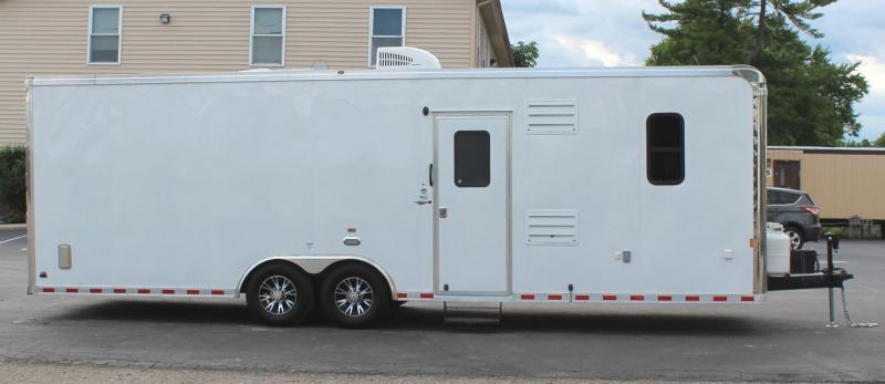 <b>ORDERS ONLY</b> 28' Millennium Auto Master Toy Hauler White Cabinets