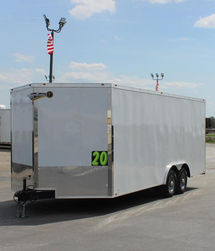 20' Millennium Chrome Enclosed Race Trailer Heavy Duty Axles
