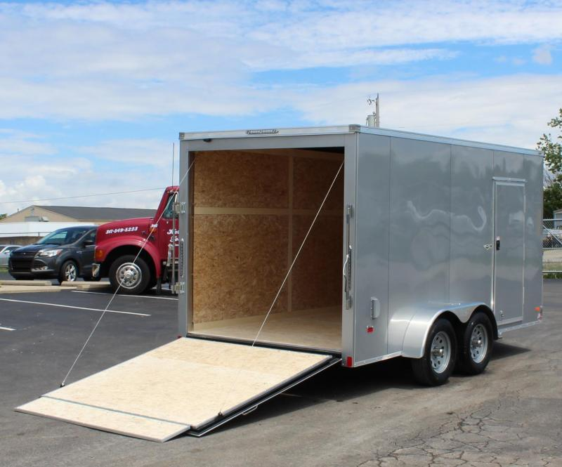 <b>NOW AVAILABLE</b> 7' x  14'  Scout Screwless Cargo Slant V-Nose w/Ramp Door Free Options