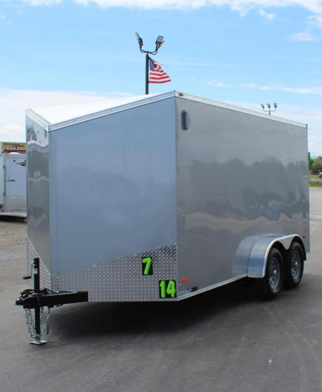 7' x  14'  Scout Screwless Cargo Slant V-Nose w/Ramp Door Free Options