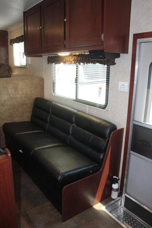 "JANUARY CLEARANCE 2020 48' Millennium 12'XE Living Quarters Sofa and Dinette 27'6"" Garage Area"