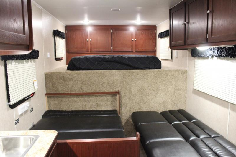 "<b>Now Available</b> 2020 48' Millennium 12'XE Living Quarters Sofa and Dinette 27'6"" Garage Area"