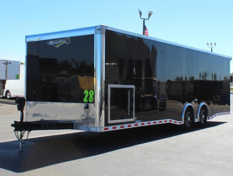 <b>READY IN SEPT.</b> 2022 28' Millennium Extreme Race CarTrailer Rear Wing w/Spread Axles