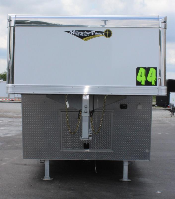 <b>ORDER TODAY SUPER LOADED</b> 44' ALUM Extreme Gooseneck Super Spread Axles /Rear Wing