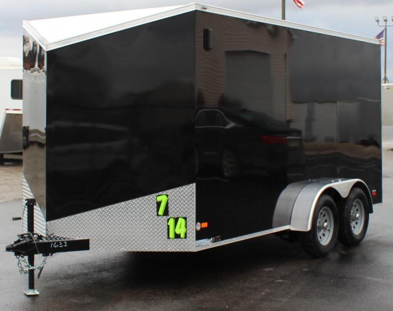 "7' x 14' V-Nose Millennium Scout Cargo Trailer Ramp Door/6"" Extra"