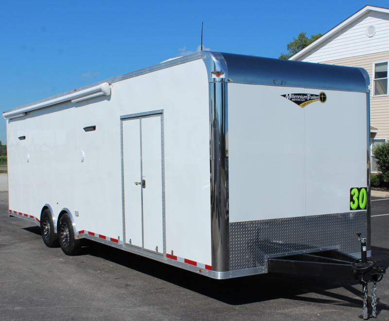 30' Millennium Platinum Car Trailer w/Electric Awning