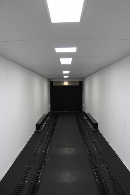 TRANSPORTER PKG  2022 48' Millennium Silver GN w/160' DBLE ROW RECESSED E-TRACK  Wide Ramp Door Triple 7K Axles