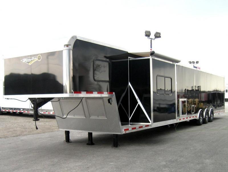 53' Millennium Silver Gooseneck Enclosed Race Car Trailer 14' +8' Living Quarters w/Slide