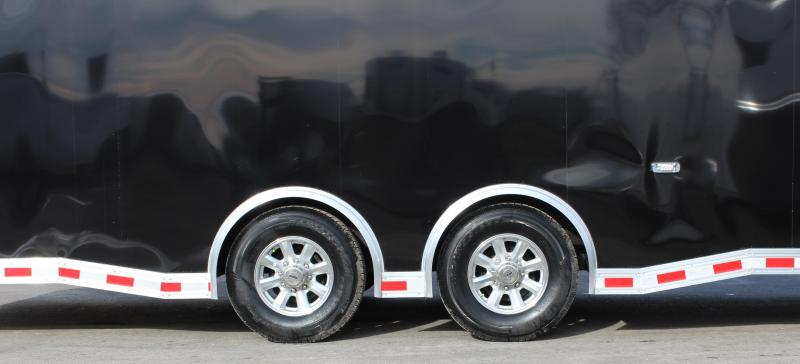 Trouble Getting Out of Your Car? Look at This 2021 28' Millennium Extreme Spread Axles/Rear Wing/Removable Fender!