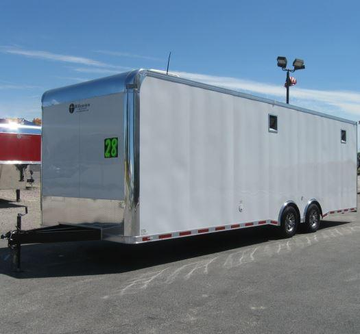 28' Millennium Enclosed Car Trailer w/Mini Lounge