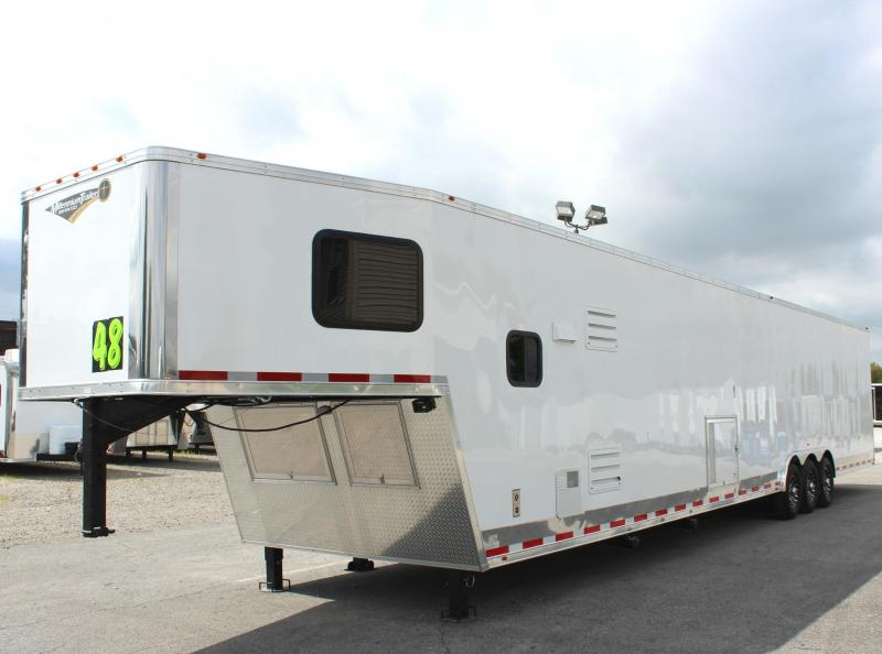 Dragster Pkg. w/Tapered Nose  2020 Millennium 48'/12 Sofa Living Quarters Trailer 28' Garage