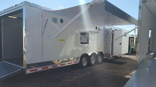Custom Double Slides- 34' Millennium Auto Master Tri Axle Enclosed Trailer