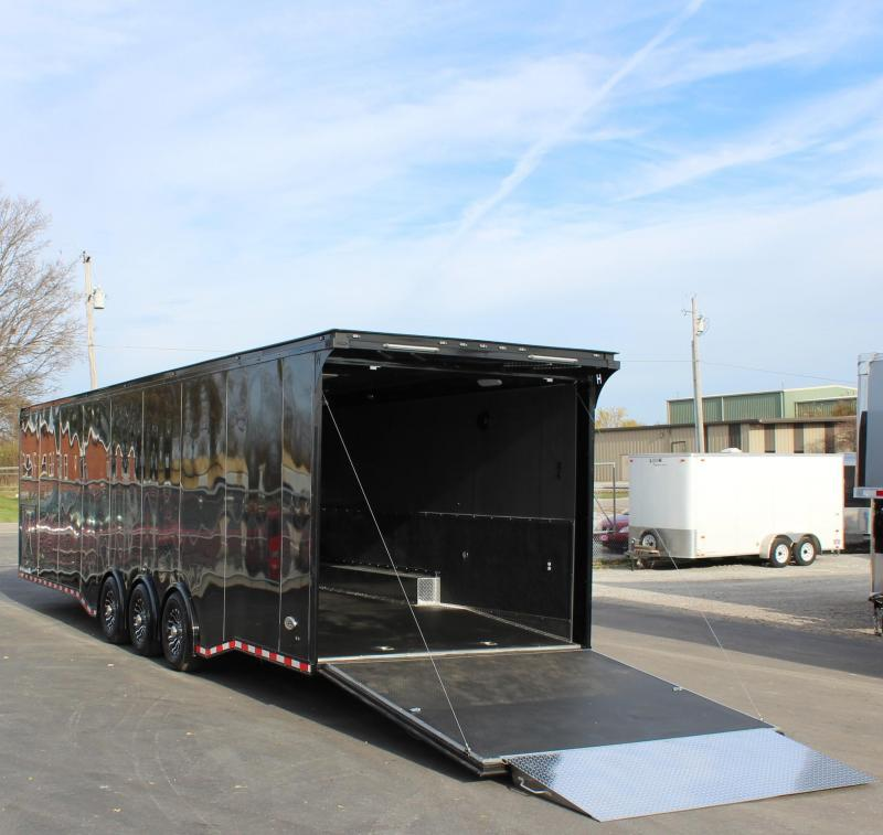 $$$ SAVING TURBO PACKAGE w/BLACK OUT PKG NOW READY!  2021 34' Edge Race Trailer