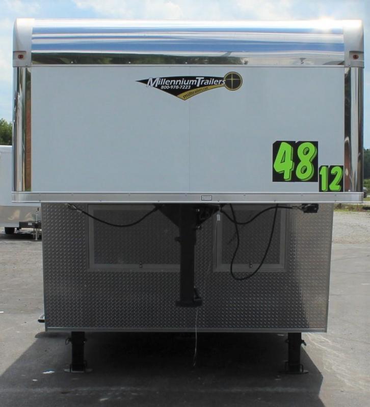<b>READY DEC.</b> 48' 2022 Millennium Race Car Trailer Gooseneck 12S Premium Living Quarters Dragster Pkg.