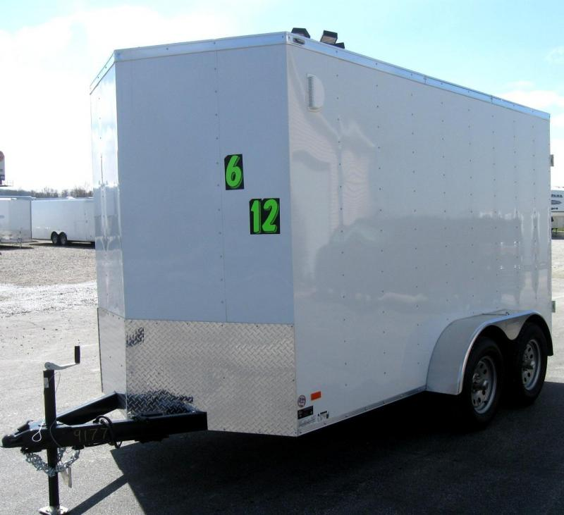 6'x12' Scout Cargo with Double Doors Tandem Axle