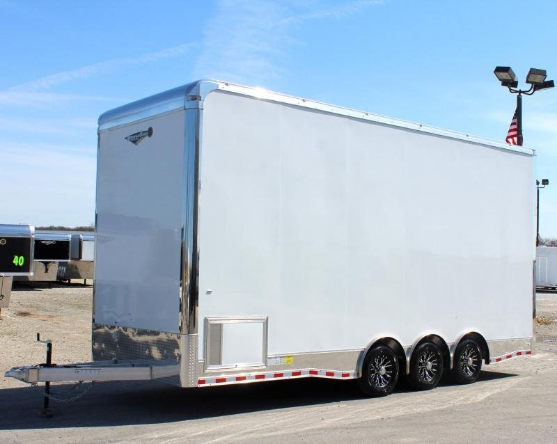 24' Aluminum Frame Millennium Stacker Trailer 14' Full Floor Lift Super Loaded!