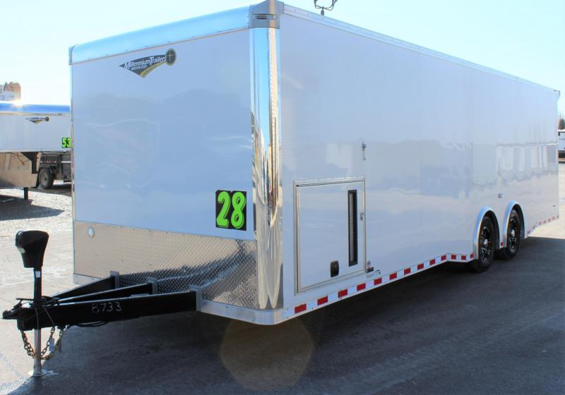 28' Millennium Extreme Race Trailer Rear Wing w/Spread Axles