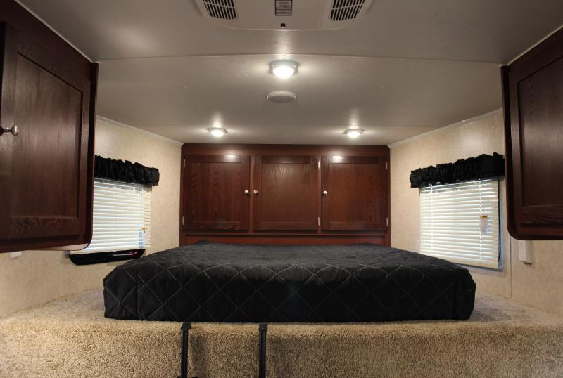 NOW AVAILABLE  2021 44' Millennium Living Quarters 12' Sofa +8'/Large Bath w/Large Corner Shower Tapered Nose