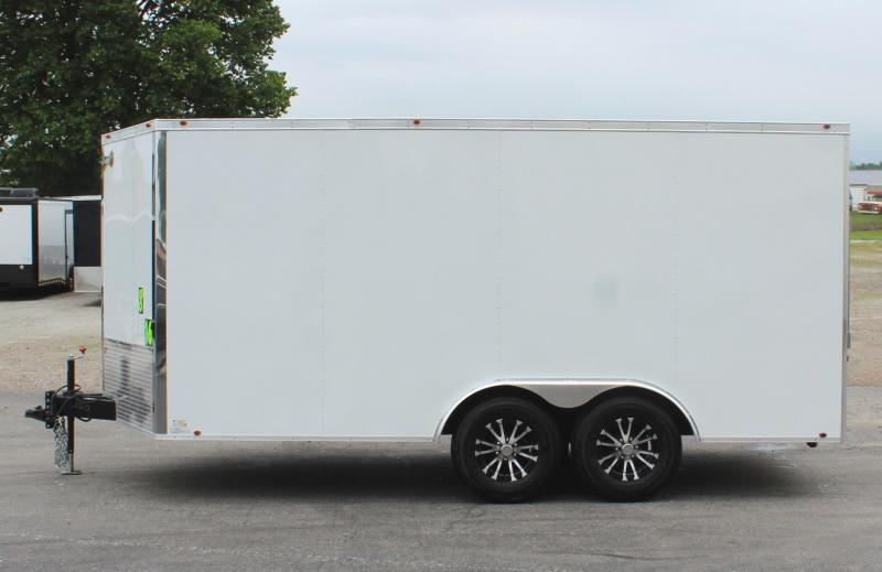 SOLD WOW! ALUMINUM PLANK FLOOR  16' Millennium Chrome Enclosed Trailer w/Heavy Duty 5200# Axles/Ramp Door & Alum Wheels